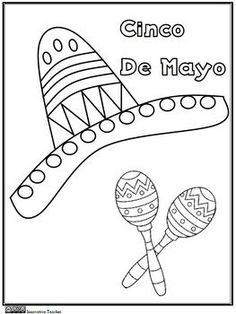 Cinco de Mayo Coloring Page {FREEBIE} - Innovative Teacher - TeachersPayTeachers.com