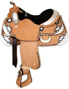 Bling Horse - Showman Silver Show Saddle With Basketweave Tool