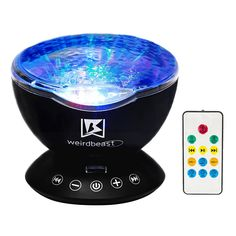 [GENERATION 3]Weirdbeast Remote Control Ocean Wave Project Sleep Night Lights with Built-in Ambient Audio Bedroom Living Room Decoration Lamp for Kids/Adult - Black >>> For more information, visit image link.