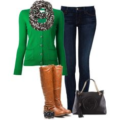 """Kelly Green!"" by jjanstover on Polyvore"