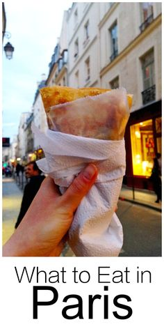 My favorite foods to eat in Paris - crepes, foie gras, cheese, crepes, pastries, fine dining and more. This is a great list if you're planning a trip or just dreaming of visiting Paris some day. | thehungrytravelerblog.com