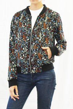 Fairytale Floral Print Bomber Jacket #fairytalefloral #floralprint #floral #bomberjacket #bomber #outerwear