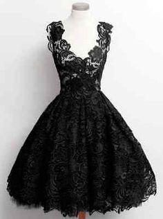 Damen Gothic Steampunk Spitzenkleid Festlich Kleid Ballkleid Schwarz XS S M L