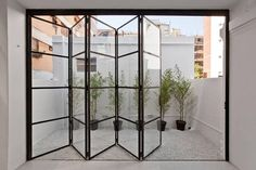 ideas for french door design balcony The Doors, Windows And Doors, Wood Doors, Crittal Doors, Crittall Windows, Steel Windows, Kitchen Doors, Bi Folding Doors Kitchen, Open Plan Kitchen