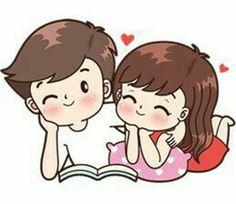 Boobib lovely couple 2 (Indo) - Stiker LINE Cute Cartoon Pictures, Cute Love Gif, Cute Cartoon Drawings, Cute Love Pictures, Love Cartoon Couple, Cute Couple Comics, Anime Love Couple, Chibi Couple, Bebe Anime