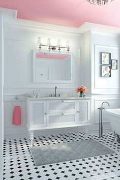 Our Pinspired Pink Bathroom
