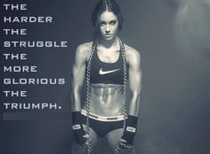 Another one of those great quotes, but also another sexy female fighter :D