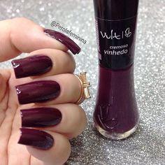 Esmalte Vinhedo - Vult Shellac Colors, Nail Colors, Garra, French Tip Nails, Purple Nails, Nail Arts, Beauty Nails, Nail Designs, Hair Makeup