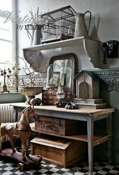 Great collection of fabulous finds!  Especially love the rustic industrial table!