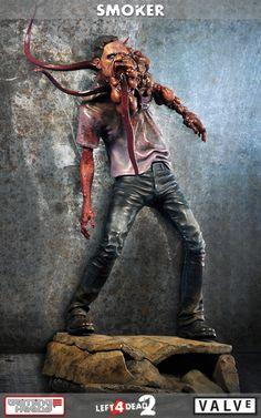 [GAMING HEADS] Left 4 Dead 2: Estátua do horrendo zumbi Smoker