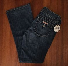 Hudson Jeans Womens Sz 30 SIGNATURE BOOTCUT in HAL Wash FLAP POCKET JEANS--$198…