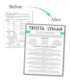 Custom Resume Design by LivingontheChic on Etsy, $30.00