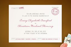 Telegram Wedding Invitations by The Social Type at minted.com