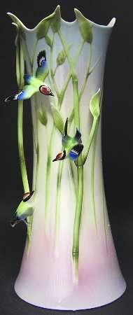 Franz Collection Bamboo & Songbird - Vase