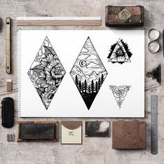 New tattoo designs!  If you like it, please contact me - terryemi.com ❤ Thank you for your support!