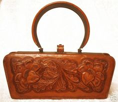 vintage handbags   Lulu's Vintage Blog: Beautiful Vintage Tooled Leather Purses