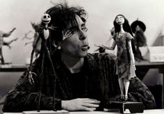 Tim Burton on the set of The Nightmare Before Christmas; 1993. I absolutely love this man!