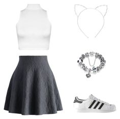 """""""Simple fashionista"""" by solia-horn on Polyvore featuring Chicwish, WearAll, adidas and Cara"""