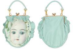 あちゃちゅむ 2014 Fall - Bisqu doll leather/ fabric purse