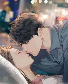 Cute Couple Drawings, Cute Couple Art, Anime Couples Drawings, Anime Couples Manga, Anime Couples Cuddling, Romantic Anime Couples, Romantic Manga, Anime Couples Sleeping, Anime Couple Kiss