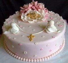 Baby Girl Christening Cake, Baby Girl Cakes, Baby Birthday Cakes, Torta Baby Shower, Pretty Cakes, Beautiful Cakes, Cake Original, Cupcake Cakes, Cupcakes