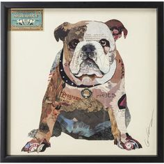 """Empire Art Direct 25 in. x 25 in. """"Men's Best Bully"""" Dimensional Collage Framed Graphic Art Under Glass Wall Art, Multi Art Du Collage, Collage Frames, Collage Artists, Frames On Wall, Framed Wall Art, Collages, Home Bild, Baroque, Glass Wall Art"""