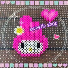 My Melody hama beads by ooh_sweetieshop