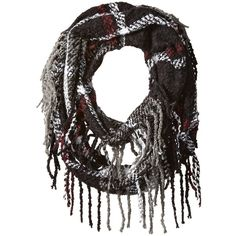 RAMPAGE Women's Boucle Plaid Infinity Scarf ($16) ❤ liked on Polyvore featuring accessories, scarves, plaid infinity scarf, tartan plaid scarves, circle scarf, tartan shawl and infinity loop scarves