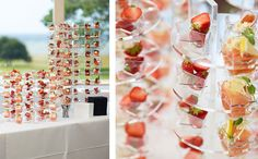 An acrylic stand will turn your amuse-bouche´s into a piece of art. Perfect for weddings and other festive occasions.