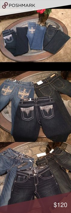 Jean bundle Size 2p(waist 27)new 2 are apt 9 one is Vera wang (listed on mercari for less) Vera Wang Jeans