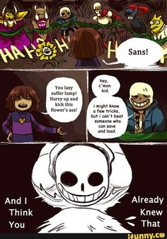 undertale, sans, he, knows