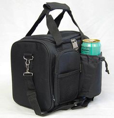 Insulated Large Size Lunch Bag Men's Women's Long Shoulder Strap Soft Lunch Box