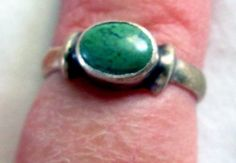 RING   GREEN  TURQUOISE   925  Sterling Silver  by MOONCHILD111, $18.95 https://www.etsy.com/shop/MOONCHILD111