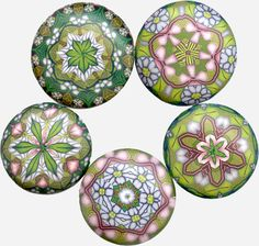 Five pendants by It's all about color, via Flickr