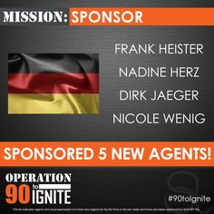 The first SEACRET Direct German Agents who sponsored 5 new Agents as part of Operation 90 to Ignite.  #90toIgnite