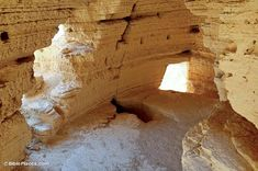 """*ISRAEL~Cave 4 Interior(Qumran Caves):Scrolls found in this cave were poorly preserved because they were not stored in jars.The practice of paying""""per piece""""led to the creation of multiple fragments from single pieces by theBedouin thieves.This cave was among those looted by theBedouin in the free afternoons of the days they were in the employ of theQumran archaeologists."""