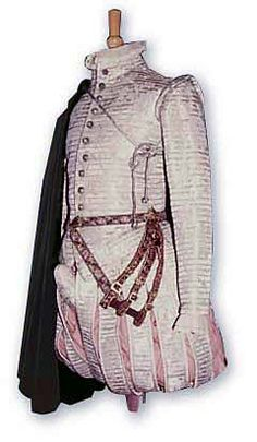 Gentleman's clothing from 1571, silk silver doublet, location unknown, photo - Picasa web- Romany Way Design