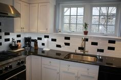 Image of: 2014 Kitchens with Black and White Tile