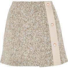 See by Chloé Wool-blend tweed mini skirt