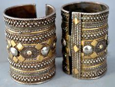 Rashida gilt silver cuffs early 20th c (private collection Linda Pastorino)