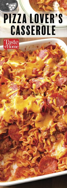 Pizza Lover's Casserole #beeffoodrecipes
