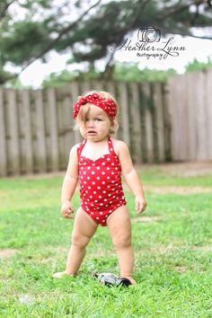 Red & white polka dot retro one piece baby girl swimsuit onesie newborn to 12 mos. by RedDollyMini on Etsy Baby Bikini, Baby Girl Swimsuit, Applique Onesie, Polka Dot One Piece, Baby Swimming, Kid Poses, Cute Girl Outfits, Kids Outfits, Twin Girls