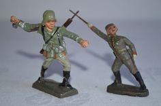 Originale Elastolin Lineol Militär-Massefiguren marschierende Soldaten 250   eBay