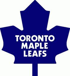 Toronto Maple Leafs Primary Logo on Chris Creamer's Sports Logos Page - SportsLogos. A virtual museum of sports logos, uniforms and historical items. Nhl Logos, Sports Logos, Hockey Logos, Sports Teams, Toronto Maple Leafs Logo, Leaf Printables, Hockey Cakes, Toronto Travel, Hockey Stuff