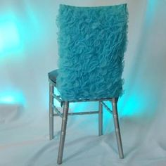 Merveilleux Gorgeous Turquoise Chair Cover!