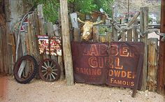 """Route 66 Artifacts, Hackberry, Arizona. """"The Fine Art Photography of Frank Romeo."""""""