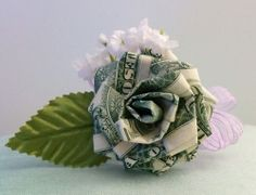 Origami Money Rose for Wedding/ Party Favors/ Anniversary/ Prom/ Birthday