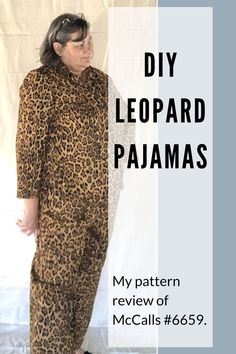 Sewing Leopard Pajamas with McCalls 6659 - Chambray Blues Sewing Sewing Blogs, Sewing Hacks, Sewing Tutorials, Sewing Tips, Sewing Projects, Plus Size Patterns, Cool Patterns, Plus Size Sewing, Sewing Lingerie