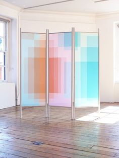 """Layer Screens by Kim Thome from the Aram Gallery's show """"Future Stars?"""":"""