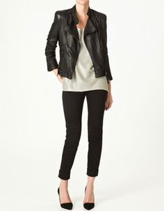 zara.  borrowed my daughter's leather last year and def need to get one of my own this fall!! so cute with skinny jeans and ankle boots <3